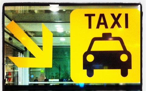 海外のタクシー乗り場