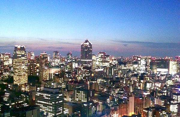 世界貿易センタービルの夜景
